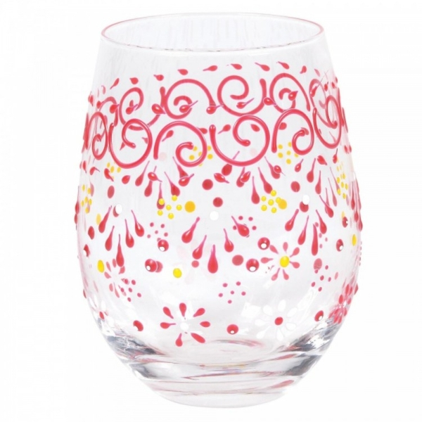 Melon Henna Tumbler Glass