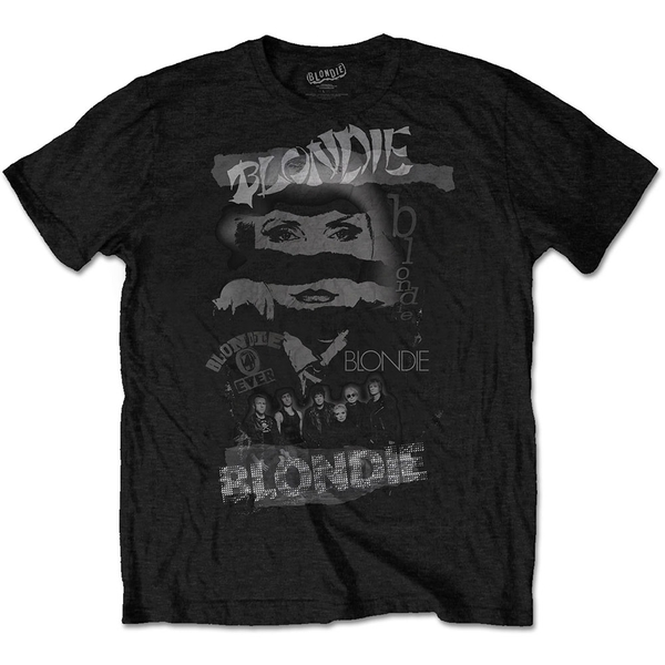 Blondie - Mash Up Men's Small T-Shirt - Black