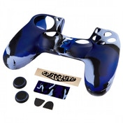 Blue Camo 7 in 1 Accessory Pack for the Dualshock 4 Controller of the PS4