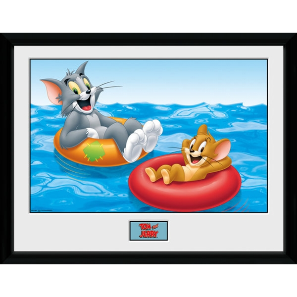 Tom and Jerry Floats Collectors Print
