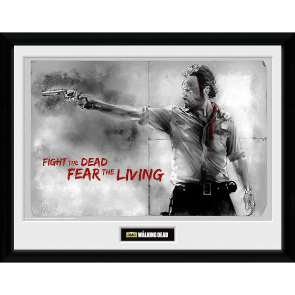 The Walking Dead Rick 16 x 12 Collector Print