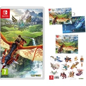 Monster Hunter Stories 2 Wings of Ruin Nintendo Switch Game (with Poster, Stickers and Cloth)