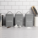 Stainless Steel Tea, Coffee & Sugar Canisters | M&W Grey - Image 2