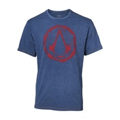 Assassin's Creed - Crest Logo Faux Denim Men's Small T-Shirt - Blue