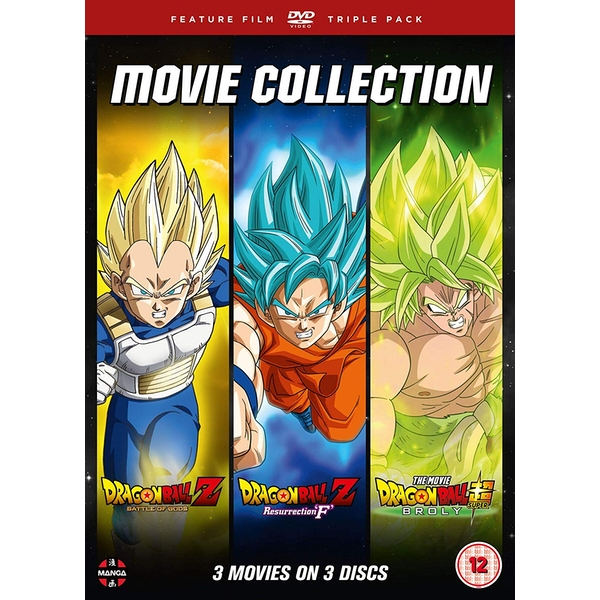 Dragon Ball Movie Trilogy (Battle Of Gods, Resurrection F & Broly) DVD