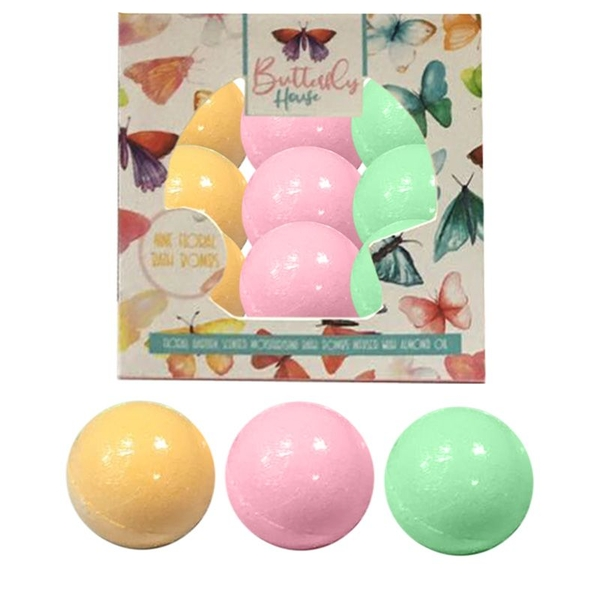 Set of 9 Butterfly House Small Bath Bombs