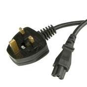 UK Mains to Clover C5 1.8m Black OEM Power Cable