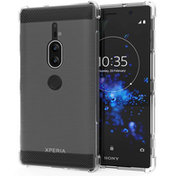Sony Xperia XZ2 Premium Carbon Anti Fall TPU Case - Clear
