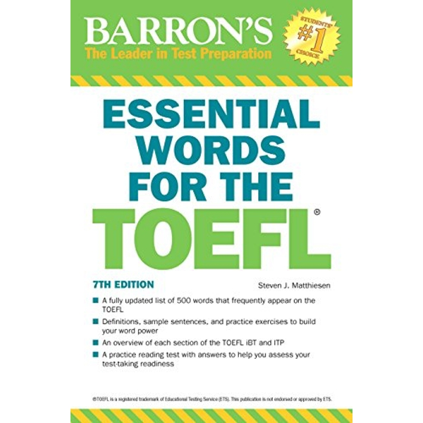 Essential Words for the TOEFL, 7th Edition by Steven J. Matthiesen (Paperback, 2017)