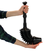 Ex-Display Toilet Plunger, 8x More Powerful To Unblock Bath Drains & Easy Clean Green House Used - Like New