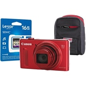 Canon PowerShot SX610 HS Red Camera Kit inc 16GB SDHC Class 10 Card & Case