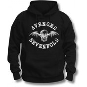 Avenged Sevenfold Logo Pullover Hoodie Black: Large