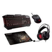 Asus Cerberus Gaming Bundle Keyboard, Headset, Mouse & Mouse Pad Included, Soft Bundle