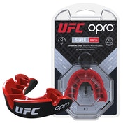 UFC Silver Mouthguard by Opro Black/Red Adult