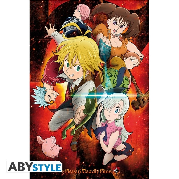 The Seven Deadly Sins- Characters Poster