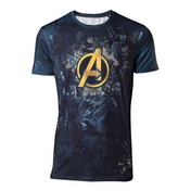 Avengers: Infinity War - Team Sublimation Print Men's XX-Large T-Shirt - Blue