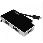 StarTech Travel A/V Adapter: 3-in-1 USB-C to VGA DVI or HDMI 4K