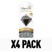 Black Gold 3D (Pack Of 4) Diamond Air Freshener - Image 2