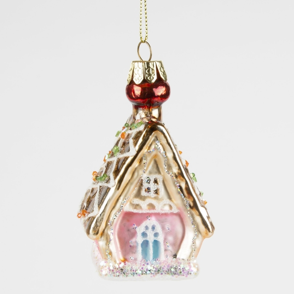 Sass & Belle Princess Gingerbread House Shaped Bauble