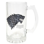 Game of Thrones Stark beer glass