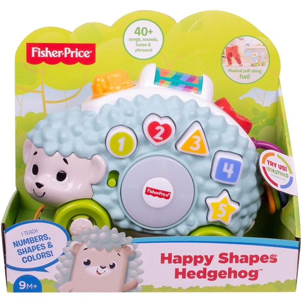 Fisher-Price Linkimals Interactive Happy Shapes Hedgehog Toy with Lights and Sounds