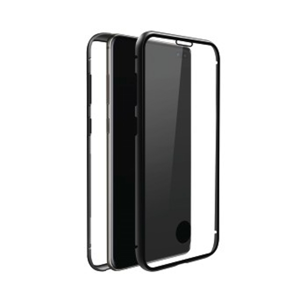 Black Rock 360 Glass Case for Samsung Galaxy S10 Transparent with Black Frame