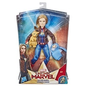 Captain Marvel Movie: Captain Marvel Super Hero Doll & Marvel's Goose the Cat