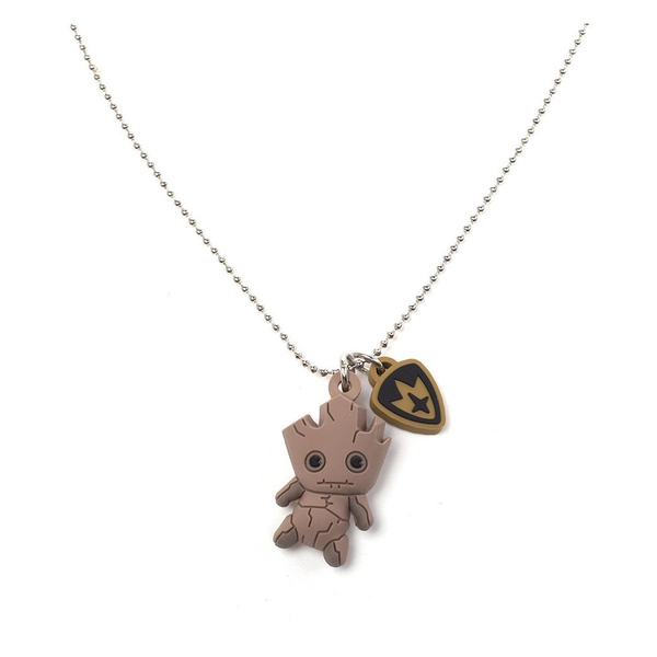 Marvel Comics -  Guardians of the Galaxy Groot Kawaii 3D Rubber Pendant Chain Necklace