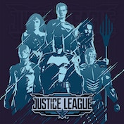 Justice League Movie - Scratch Stencil Canvas
