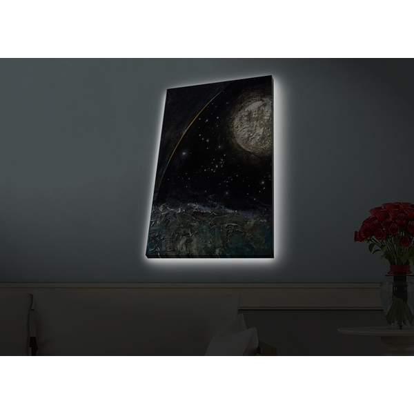 4570HDACT-098 Multicolor Decorative Led Lighted Canvas Painting