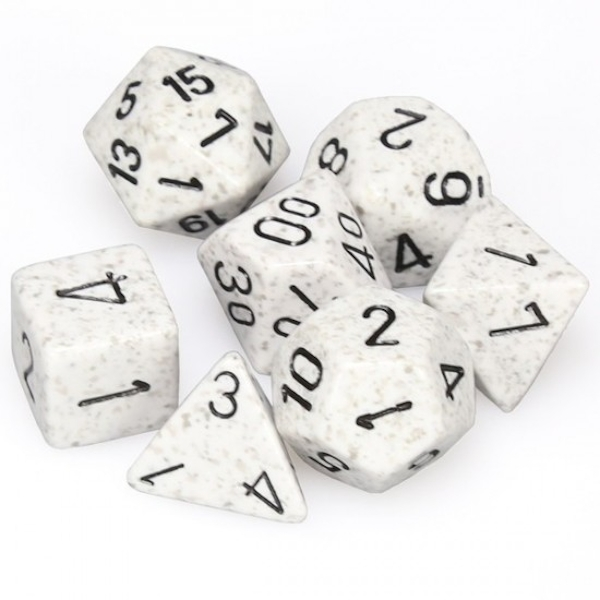 Chessex Speckled Poly 7 Dice Set: Arctic Camo