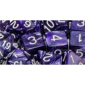 Marble Purple Poly 15 Set Dice