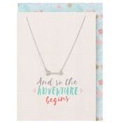 So the Adventure Begins Necklace and Card