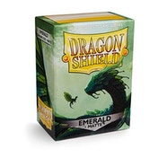 Dragon Shield Matte- Emerald 100 Sleeves In Box - 10 Packs