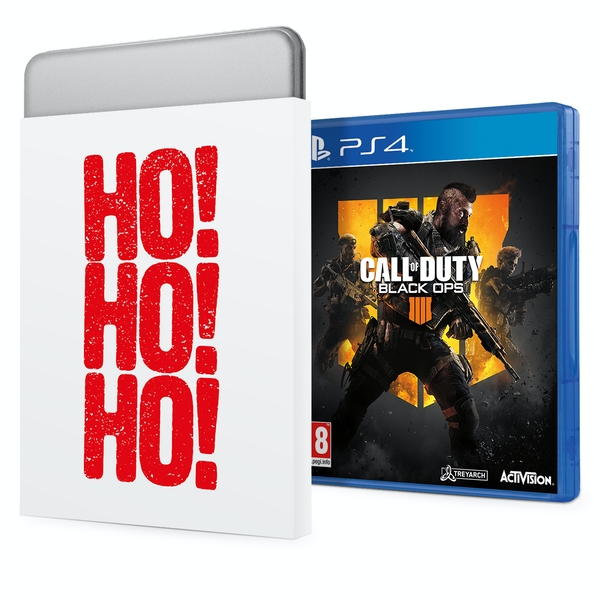 Call Of Duty Black Ops 4 PS4 Game + Christmas Gift Tin