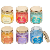 Assortment of 6 Esscents Candle in Glass Jar
