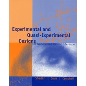 Experimental and Quasi-Experimental Designs for Generalized Causal Inference by Thomas D. Cook, Jr., William R. Shadish (Paperback, 2001)