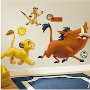 (Packaging Damaged) Disney The Lion King Giant Wall Stickers Used - Like New