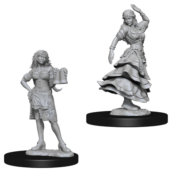 Pathfinder Deep Cuts Unpainted Miniatures (W4) Bartender/Dancing Girl