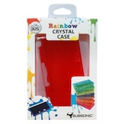 Subsonic Rainbow Crystal Case Red 3DS