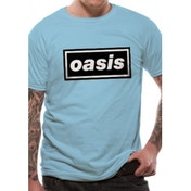 Oasis Logo Unisex Medium T-Shirt - Blue
