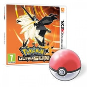 Pokemon Ultra Sun + Pokemon Pin Badge 3DS Game