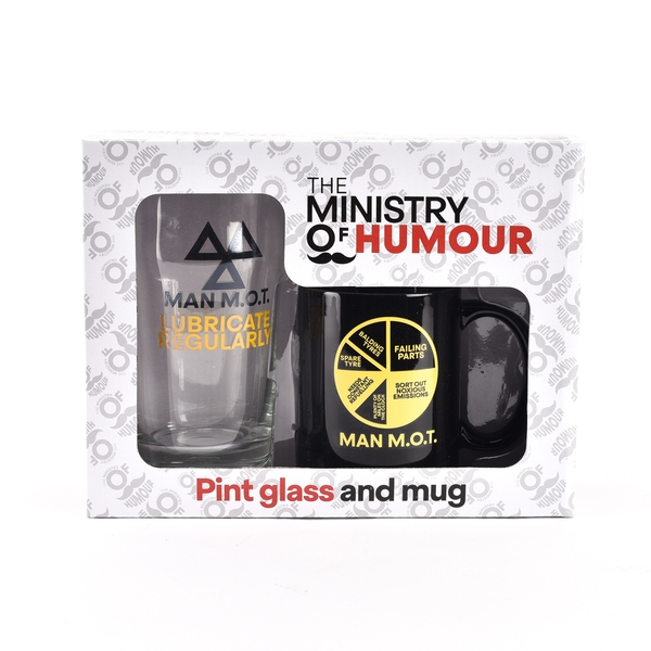 Ministry of Humour Mug & Beer Glass - Man M.O.T.