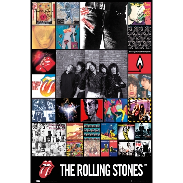 The Rolling Stones * Discography Maxi Poster - 365games co