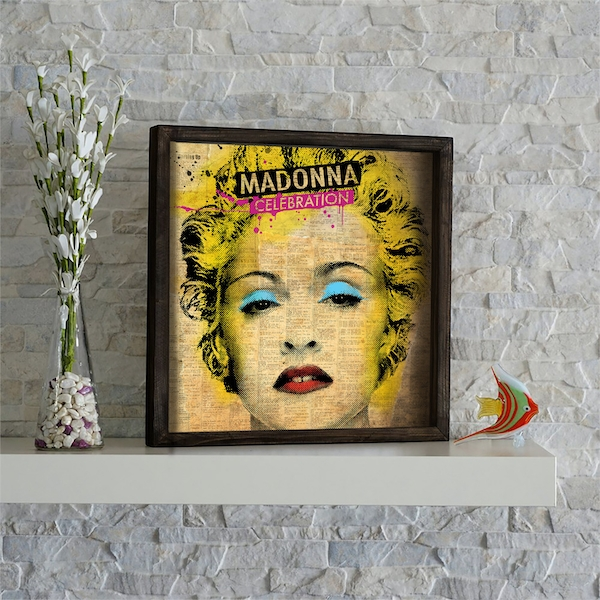 KZM540 Multicolor Decorative Framed MDF Painting