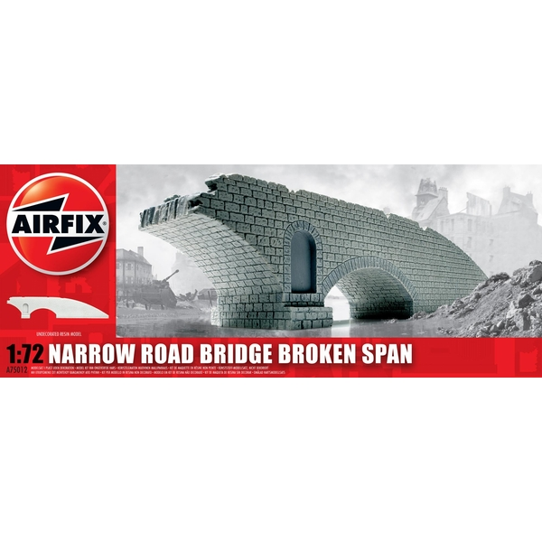 Narrow Road Bridge Broken Span Resin Ruined Buildings Air Fix Model Kit