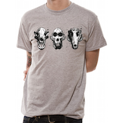 Rampage - Three Skulls Men's Medium T-Shirt - Grey
