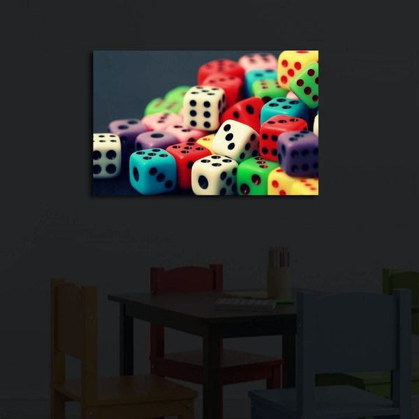 4570?ACT-38 Multicolor Decorative Led Lighted Canvas Painting