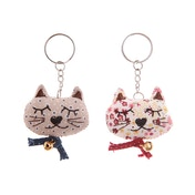 Sass & Belle Handmade Vintage Cat Keyring (1 Supplied)
