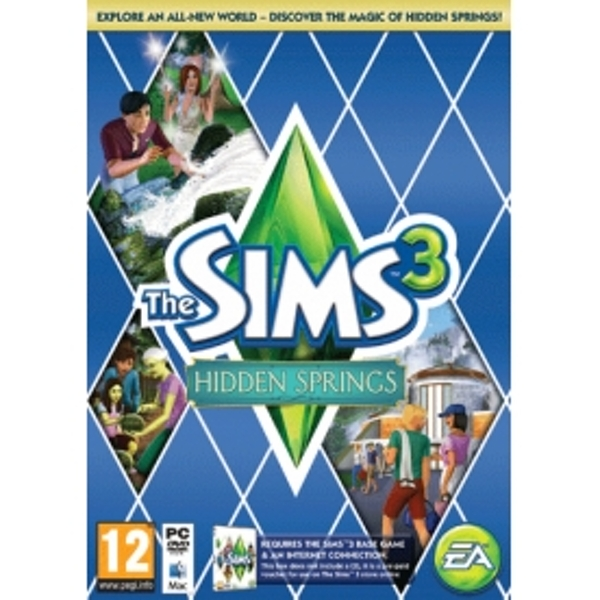 Sims 3 Hidden Springs (Code-in-a-box) Game PC